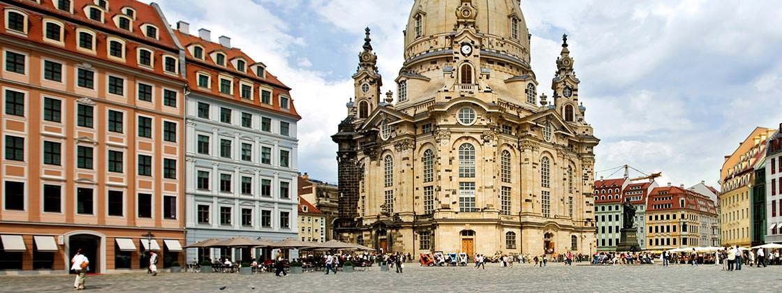 Our location in Dresden - View on Church of Our Lady