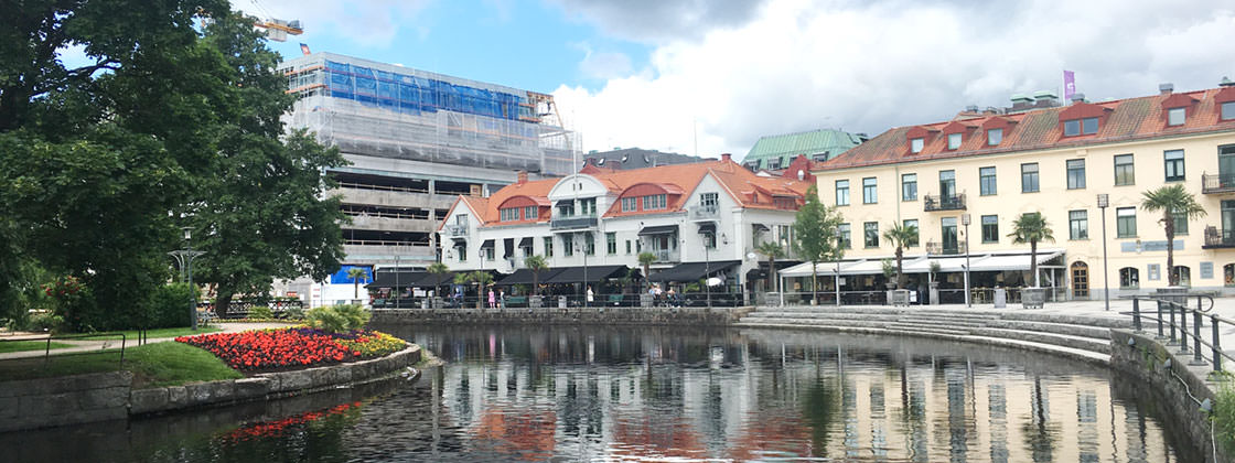 Our location in Borås - View on riverside