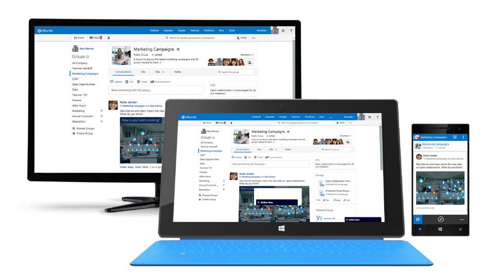 you can use Microsoft SharePoint on all devices